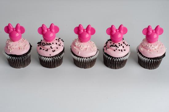Minnie Mouse Pink Cupcakes