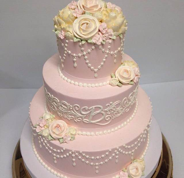 Wedding Cake Pearl Frosting