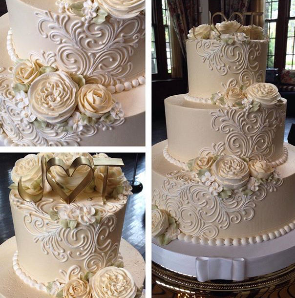Buttercream Wedding Cake: White Flower Cake Shoppe