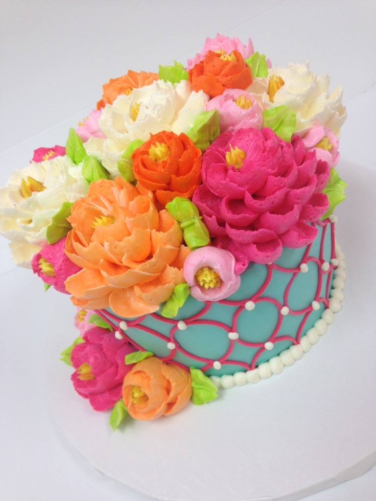 Classic Pink and Orange Floral