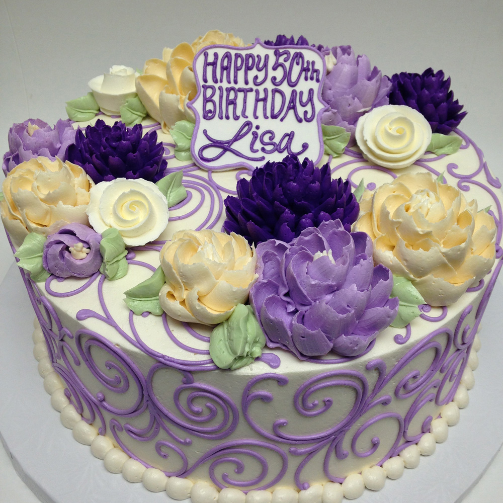 Birthday Cake White Flower Cake Shoppe