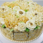 Classic Anniversary Ivory and Gold