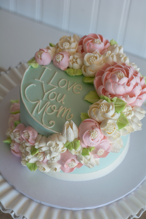 Simply Sweet Floral Cascade-I Love you Mom