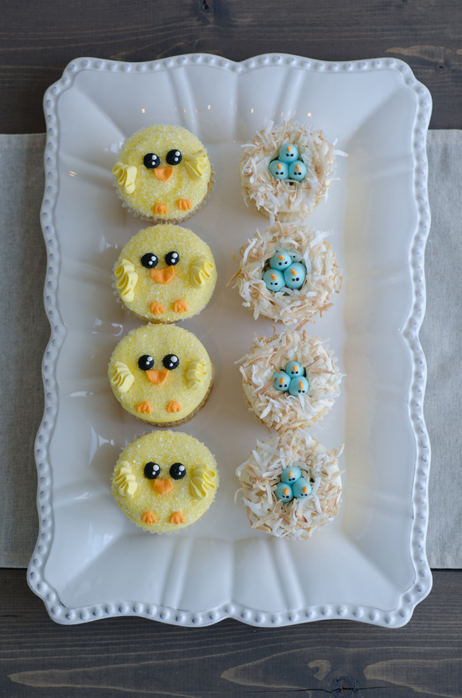 Baby Chick and Birds Nest Cupcakes