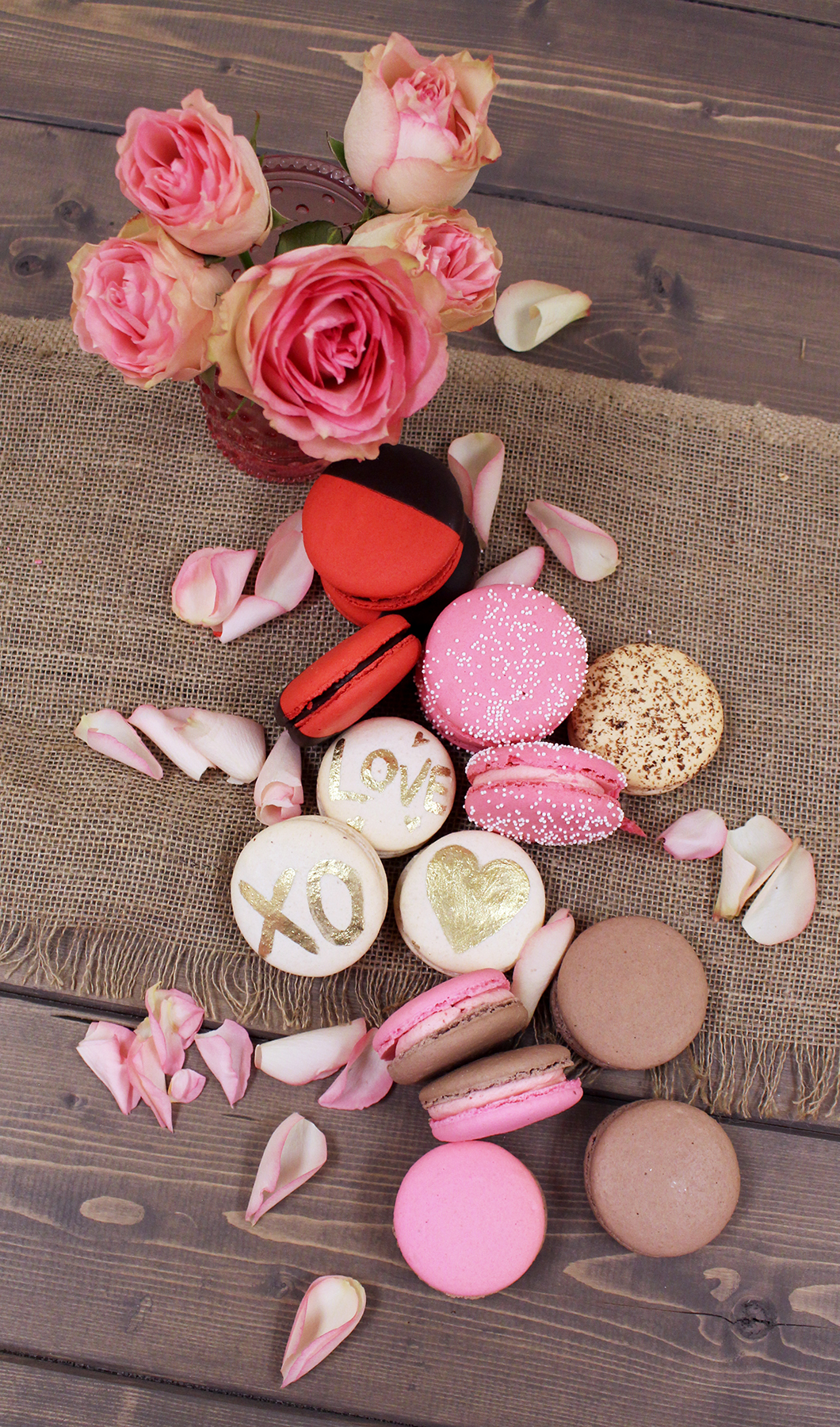 Valentines French Macarons