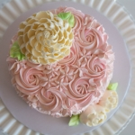 Simply Sweet Rosette Blossom Top view