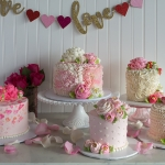 Signature Painted Hearts, Simply Sweet Pink Ribbon Ruffle, Classic tiny hearts, Simply Sweet White Rosette Blossom, Simply Sweet ruffle