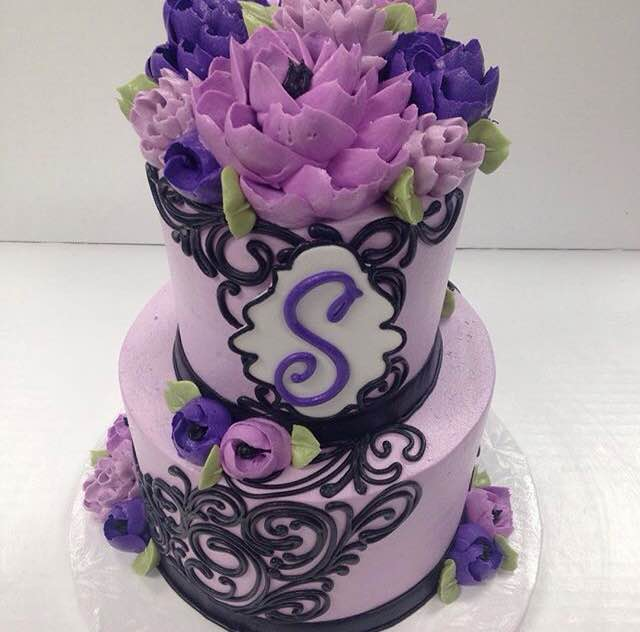 Classic Purple and Black 2 Tier