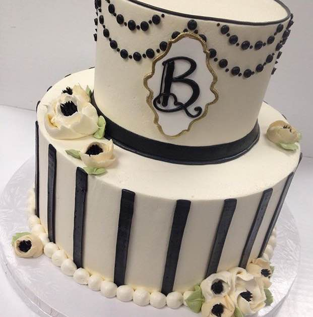Bakery near me white flower cake shoppe classic gatsby 2 tier mightylinksfo