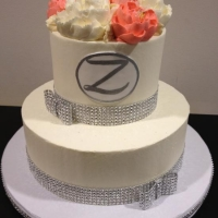 Classic Glam 2 Tier Celebration Cake