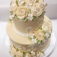 Classic 2 tier Ivory Rose