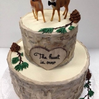 Signature Birchwood Deer cake 2 tier