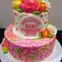 Classic 2 Tier Celebration Cake - Bright and Fun