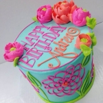 Classic Andrea's Flowers Cake