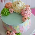Classic Pastel Brush Strokes Cake