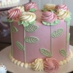 Classic Spring Rosette Cake