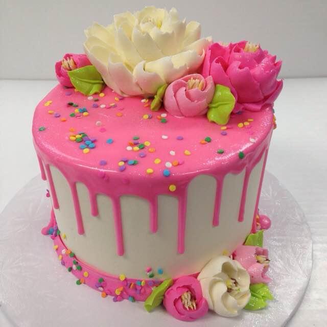 White Flower Drip Cakes White Flower Cake Shoppe
